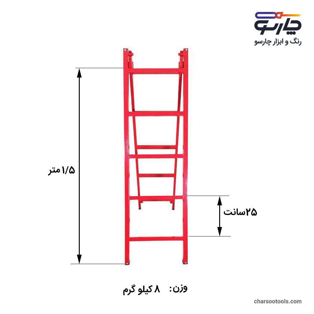 اندازه-ابعاد-نردبان-کشویی-10-پله