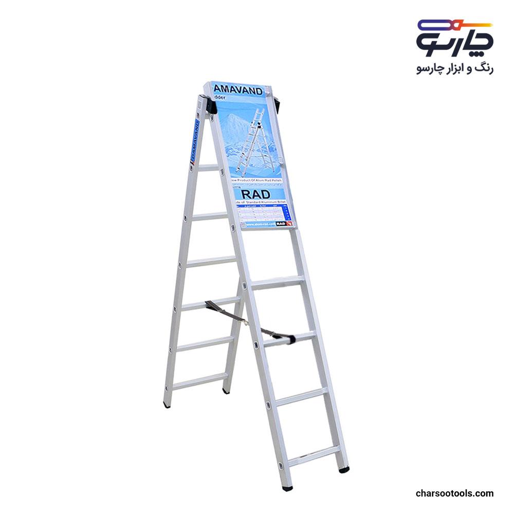 نردبان-آلومینیوم-دو-طرفه-2-متری-آلوم-رادپله-مدل-دماوند