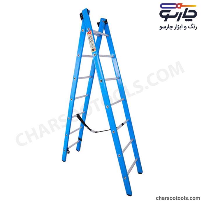 خرید نردبان کشویی مخابراتی مدل سیلور 2متری پله گرد آلوم راد پله