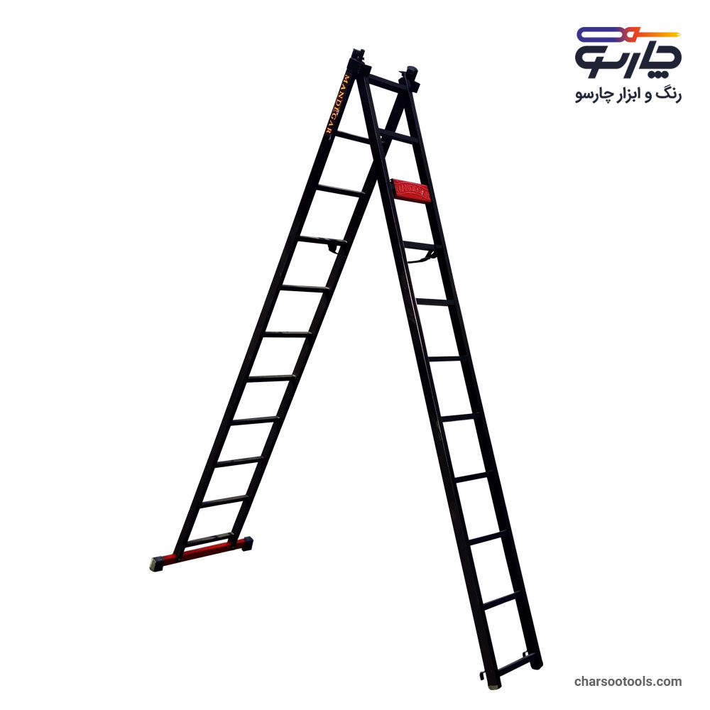 نردبان-کشویی-23پله-آهنی-سبک
