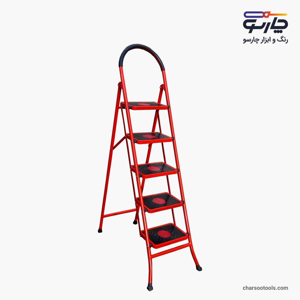 نردبان 5پله آهنی پله پهن اسمان
