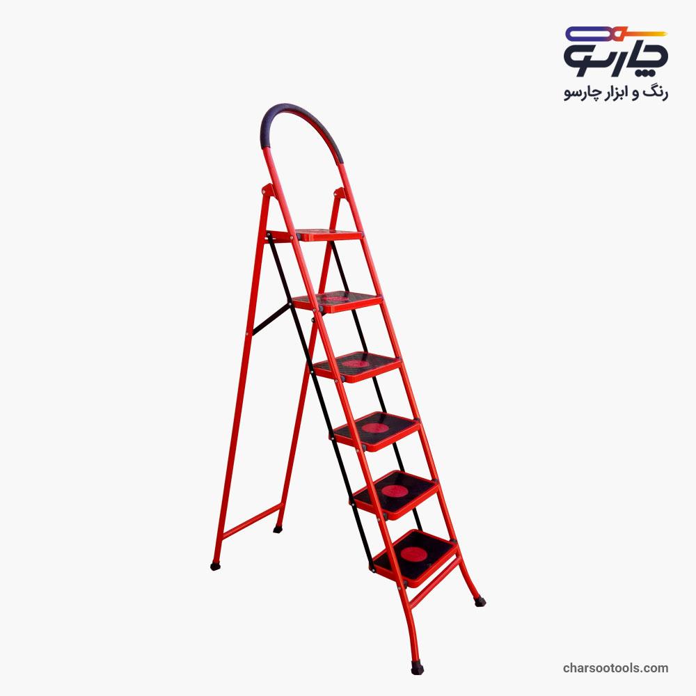 نردبان 6پله آهنی پله پهن خانگی بلند