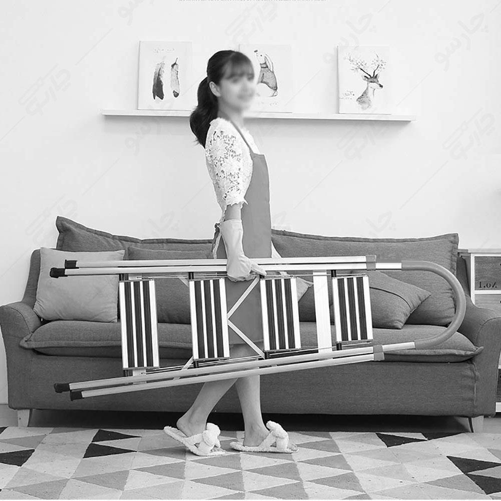 نردبان-المنیوم-سبک-ارزان-برای-خانم-های-خانه-دار