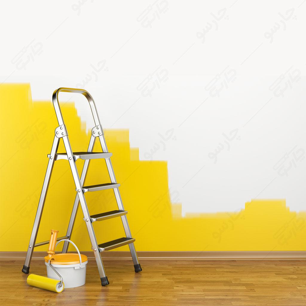 نردبان برای رنگ آمیزی و نقاشی دیوار