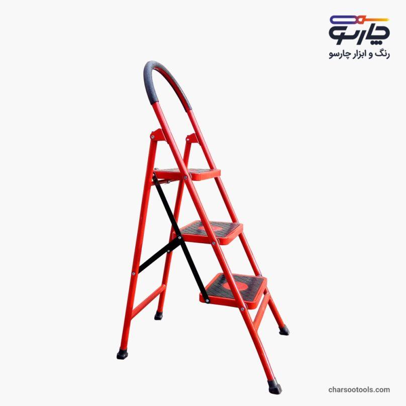 نردبان 3پله خانگی پله پهن آهنی ماندگار مدل اسمان