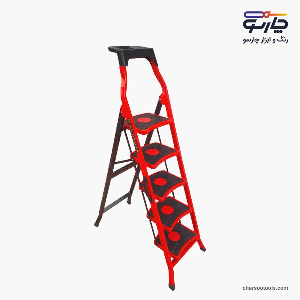 خرید نردبان خانگی5پله ماندگار مدل سما-4-ارسال رایگان در مشهد