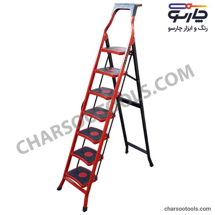 خرید نردبان 7 پله ماندگار مدل سما - نردبان پله پهن- نردبان تاشو