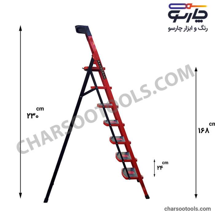 اندازه دقیق ابعاد نردبان خانگی نردبان مدل سما